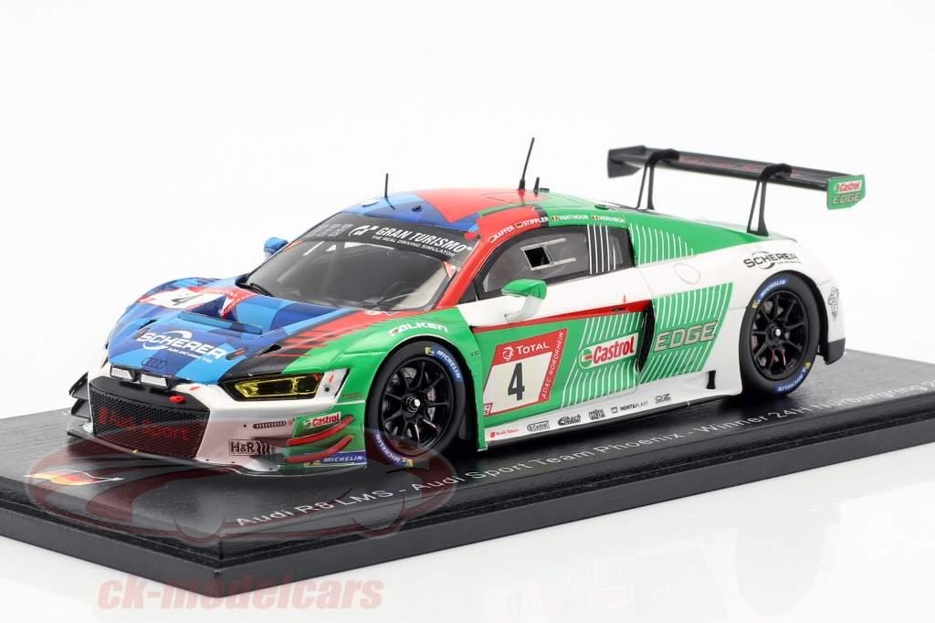 Audi R8 LMS #4 Vinder 24h Nürburgring 2019 Kaffer, Stippler, Vervisch, Vanthoor 1:43 Spark