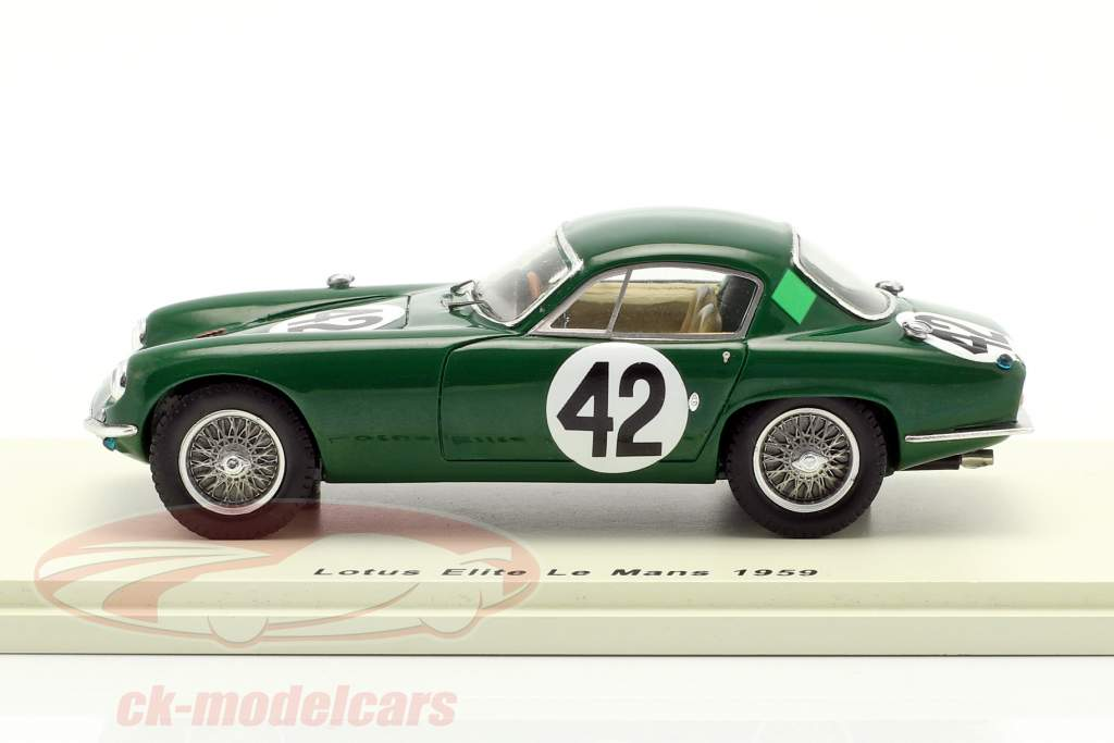 Lotus Elite #42 24h LeMans 1959 Whitmore, Clark 1:43 Spark