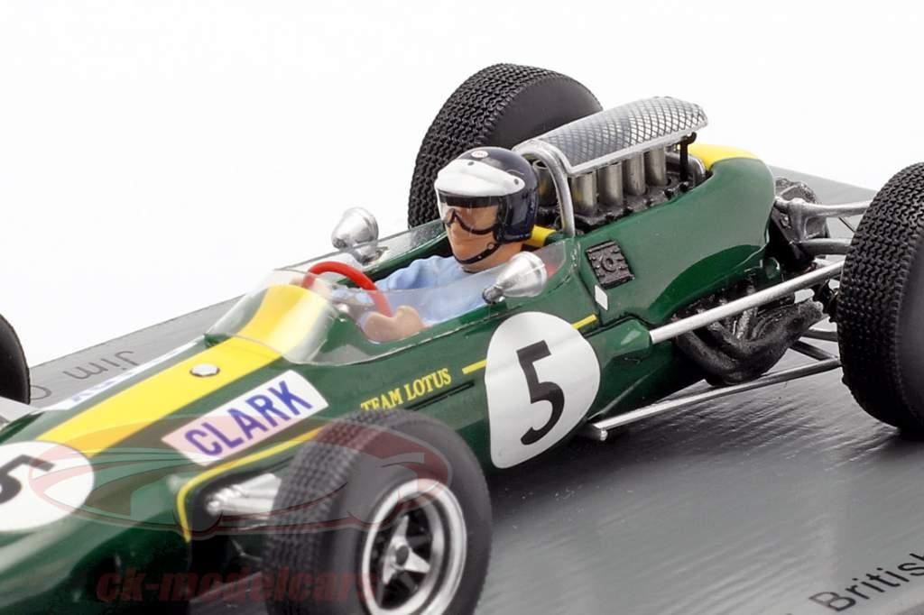 Jim Clark Lotus 33 #5 World Champion Great Britain GP formula 1 1965 1:43 Spark