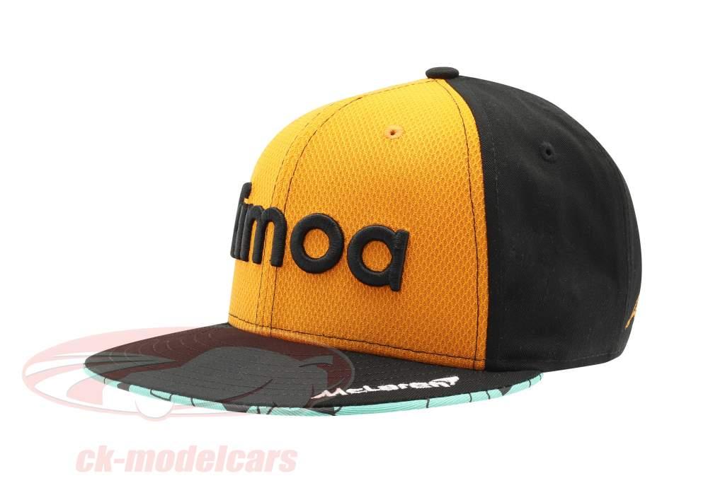Fernando Alonso McLaren #14 F1 2018 9fifty Snapback berretto Papaya M/L