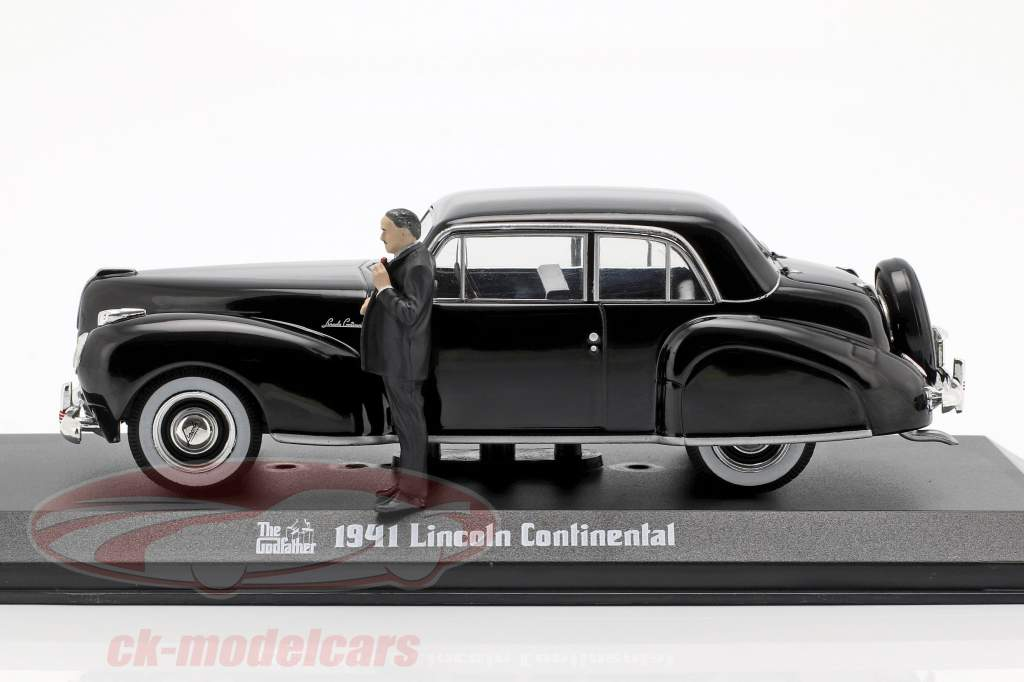 Lincoln Continental 1941 film The Godfather avec figure noir 1:43 Greenlight