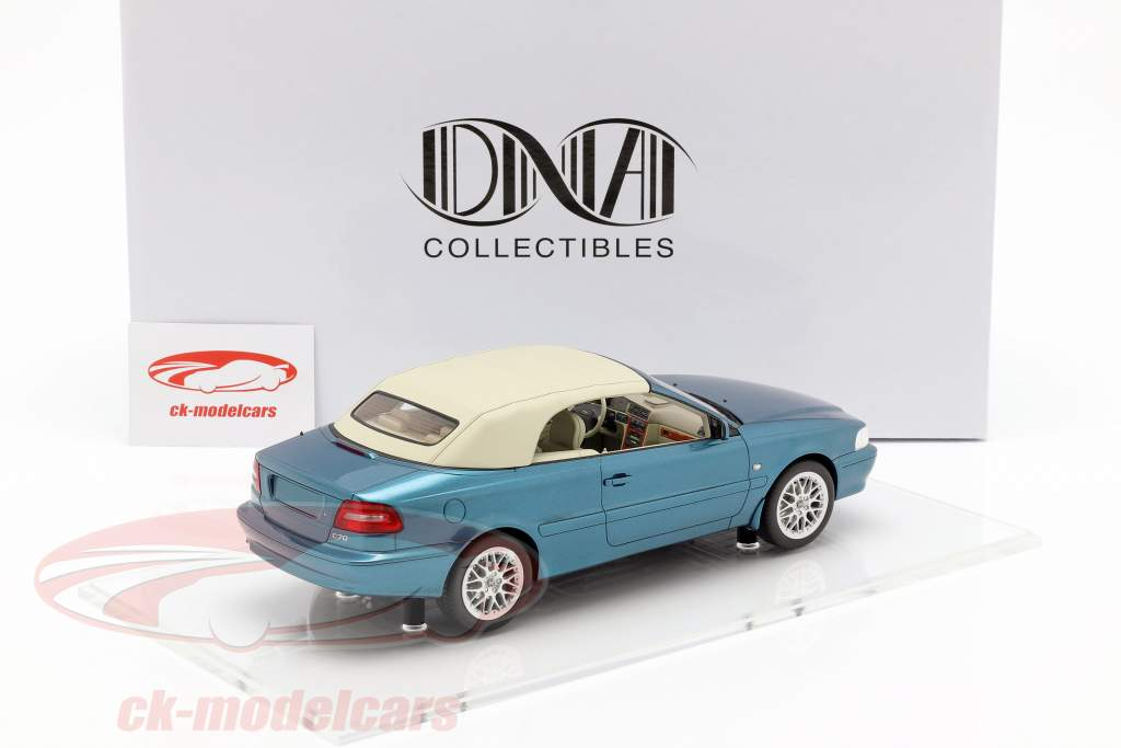 Volvo C70 Convertible year 1999 turquoise metallic 1:18 DNA Collectibles
