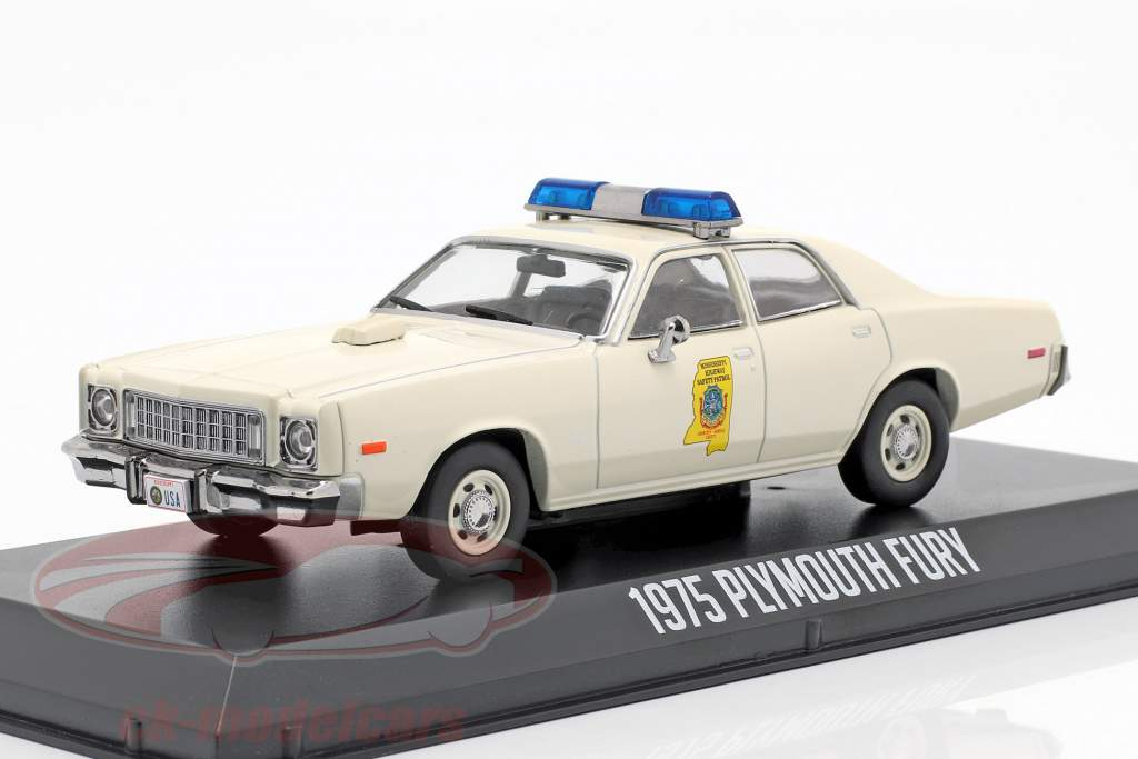 Plymouth Fury Mississippi Highway Patrol Smokey and the bandit 1977 white 1:43 Greenlight