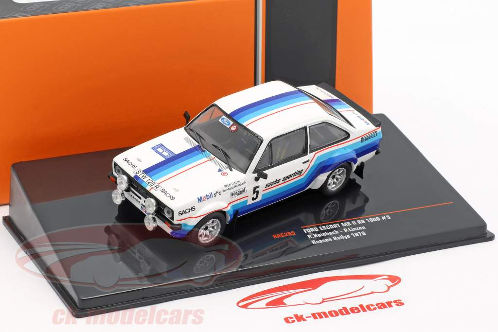 Ford Escort MK II RS 1800 #5 ganador Hessen Rallye 1978 Hainbach, Linzen 1:43 Ixo