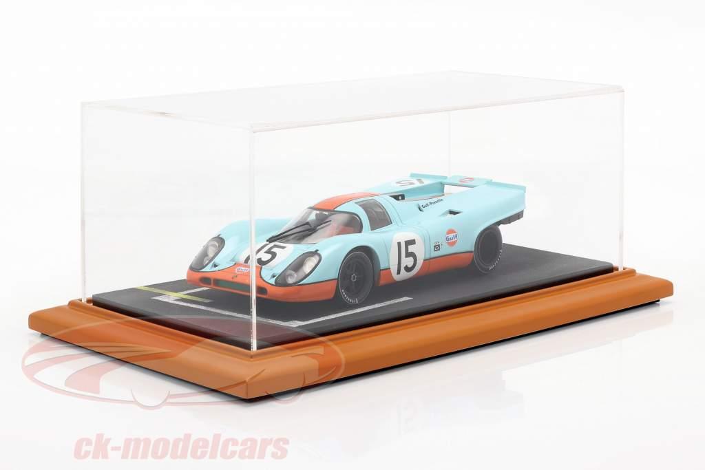 kvalitet akryl udstillingsvindue med diorama bundplade Linje-up 1:18 Atlantic