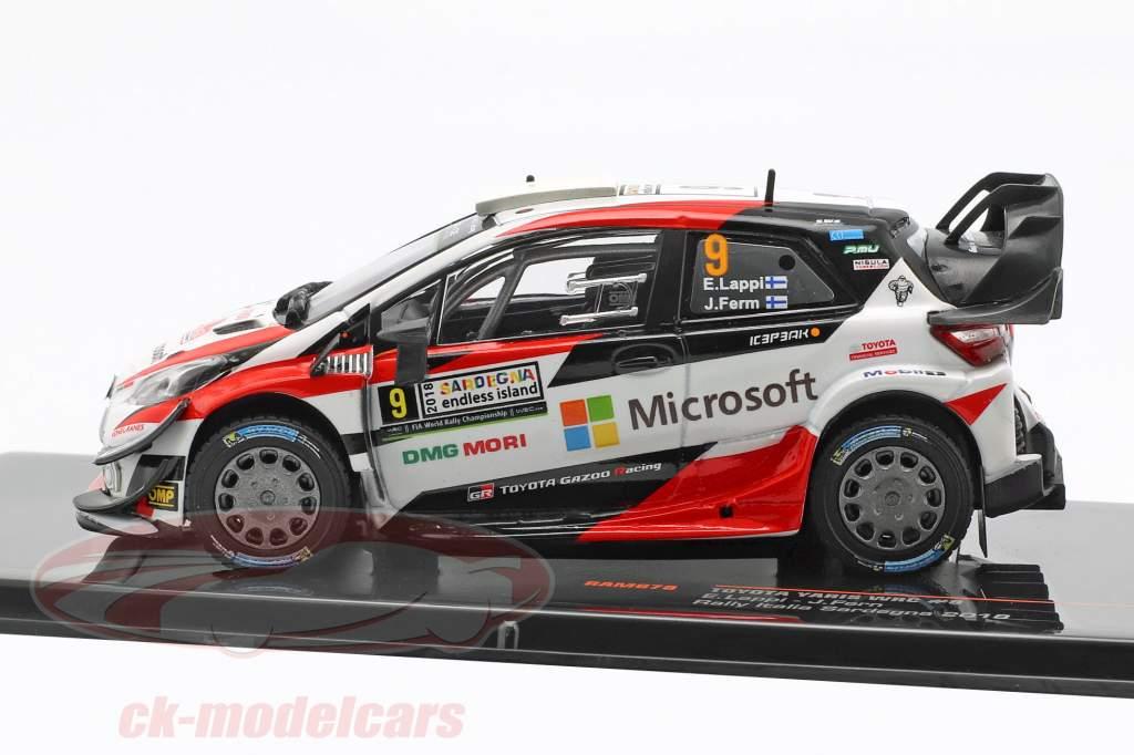 Toyota Yaris WRC #9 tercero Rallye Italia Cerdeña Lappi, Fern 1:43 Ixo