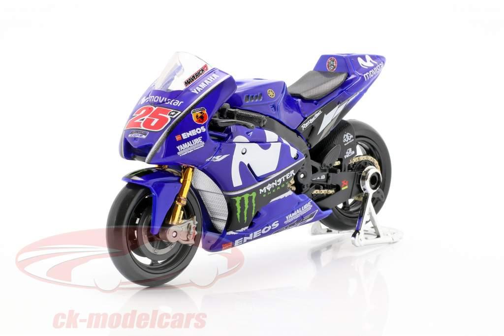 Maverick Vinales Yamaha YZR-M1 N° 25 MotoGP 2018 1:18 Maisto