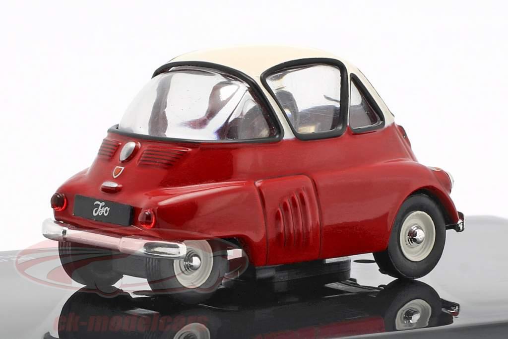 Iso Isetta année de construction 1955 rouge / blanc 1:43 Ixo