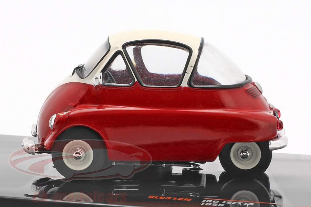 Iso Isetta Bouwjaar 1955 rood / wit 1:43 Ixo