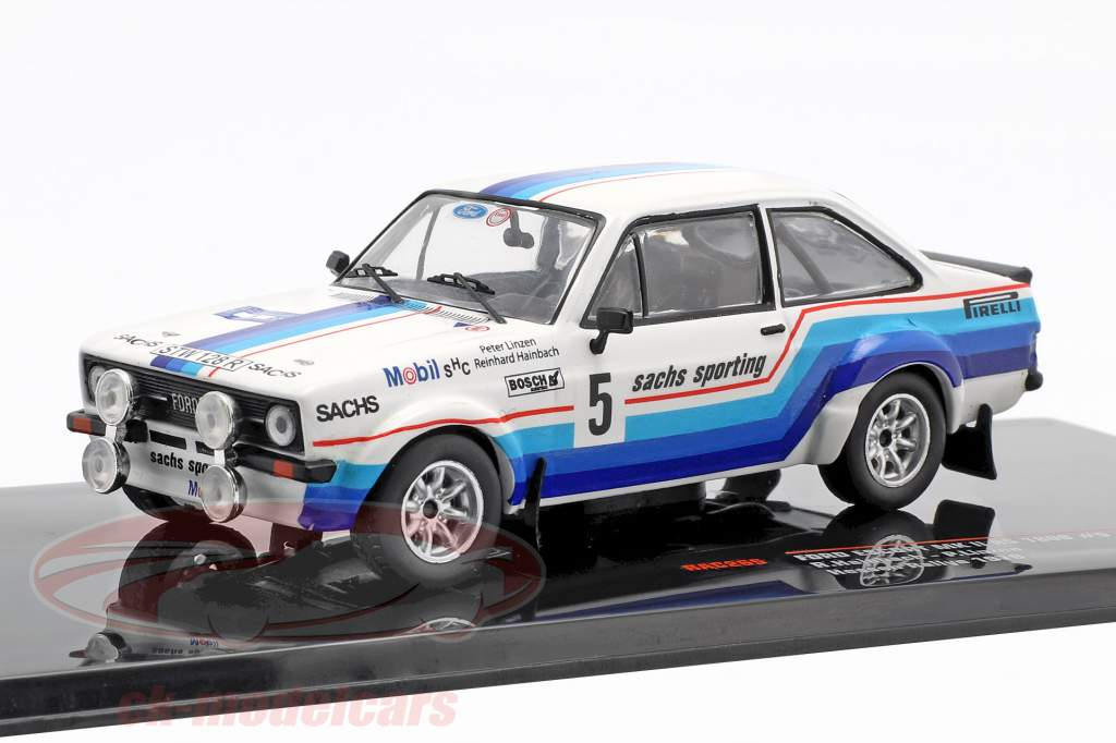 Ford Escort MK II RS 1800 #5 vencedor Hessen Rallye 1978 Hainbach, Linzen 1:43 Ixo
