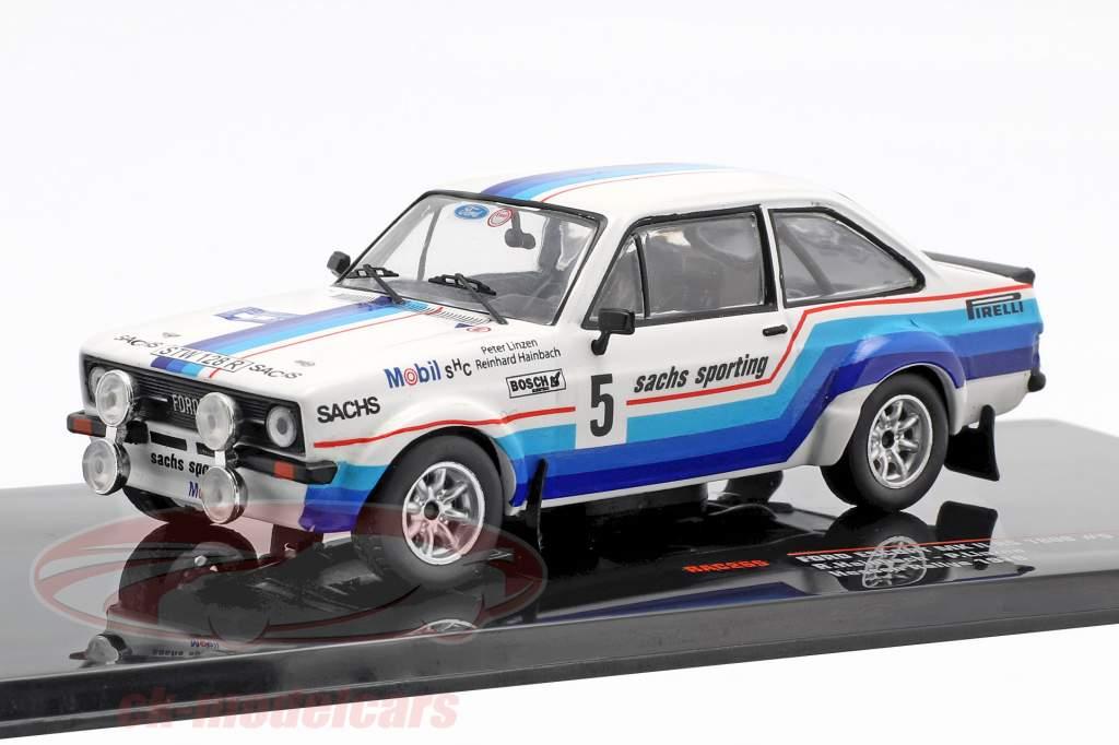 Ford Escort MK II RS 1800 #5 vinder Hessen Rallye 1978 Hainbach, Linzen 1:43 Ixo