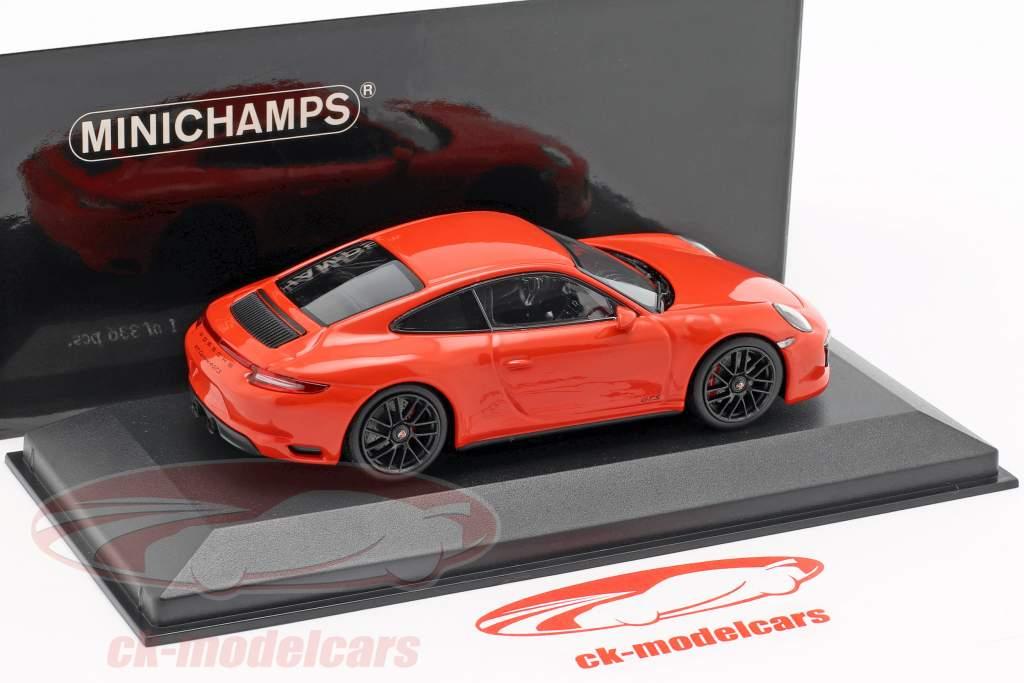Porsche 911 (991 II) Carrera 4 GTS année de construction 2017 lave orange 1:43 Minichamps
