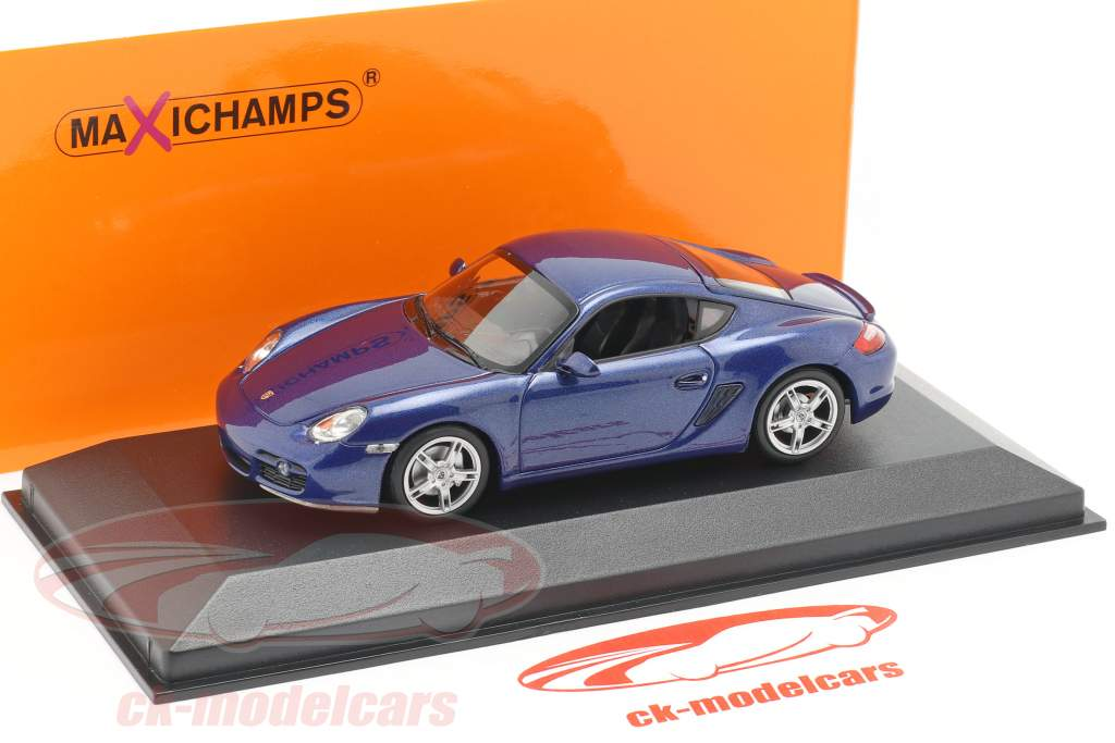 Porsche Cayman S (987c) year 2005 blue metallic 1:43 Minichamps