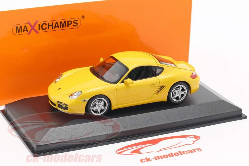 Porsche Cayman S (987c) année de construction 2005 jaune 1:43 Minichamps