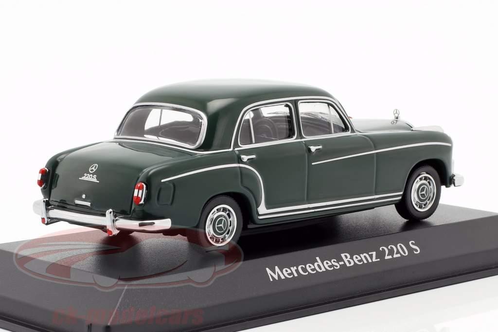 Mercedes-Benz 220 S (W180 II) anno di costruzione 1956 verde scuro 1:43 Minichamps