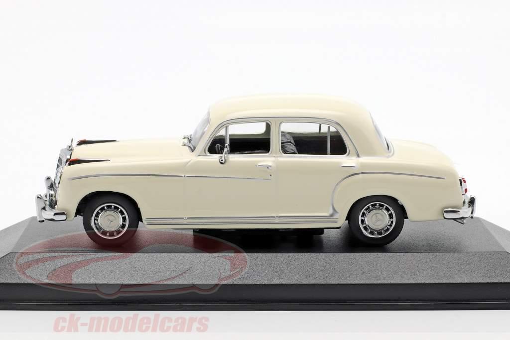 Mercedes-Benz 220 S (W180 II) ano de construção 1956 creme branco 1:43 Minichamps