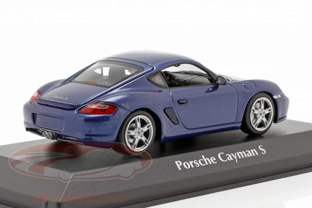Porsche Cayman S (987c) anno di costruzione 2005 blu metallico 1:43 Minichamps