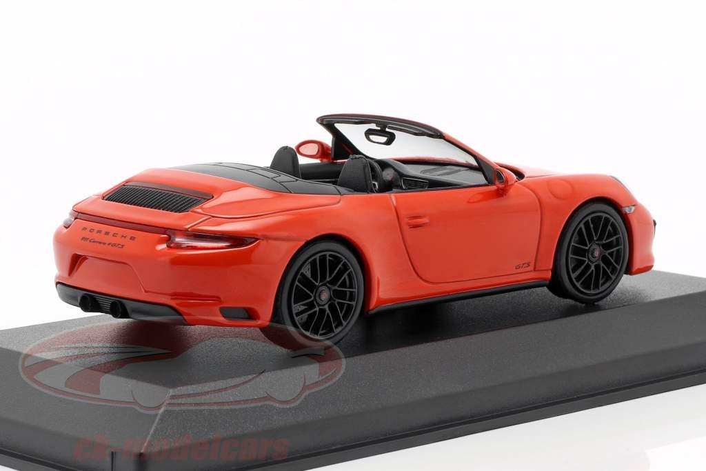 Porsche 911 (991 II) Carrera 4 GTS cabriolet 2016 lave orange 1:43 Minichamps