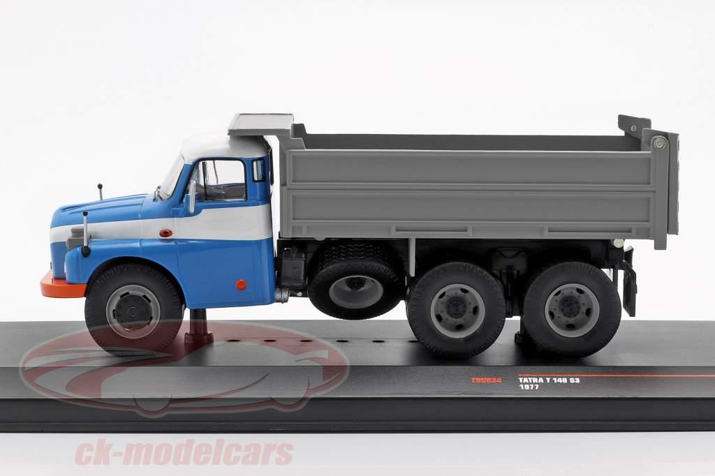 Tatra T 148 S3 dump Truck year 1977 blue / Gray 1:43 Ixo