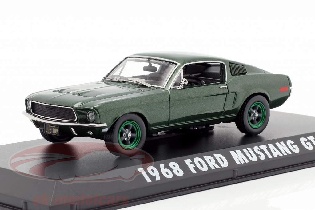 Ford Mustang GT Opførselsår 1968 film Bullitt (1968) grøn metallisk / grøn fælge 1:43 Greenlight