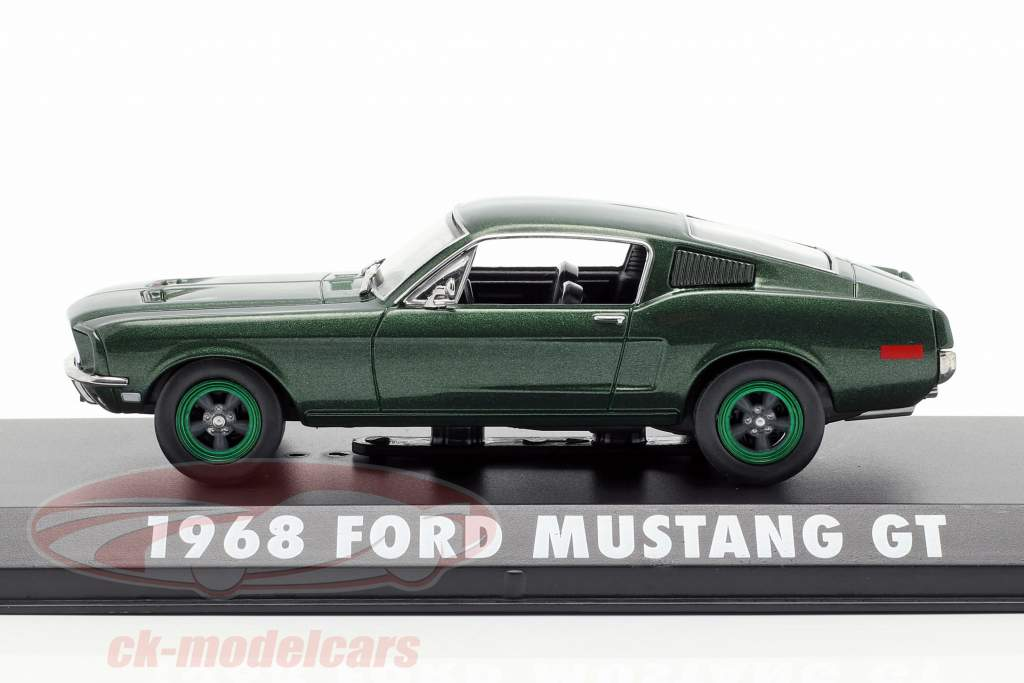 Ford Mustang GT anno di costruzione 1968 film Bullitt (1968) verde metallico / verde cerchioni 1:43 Greenlight