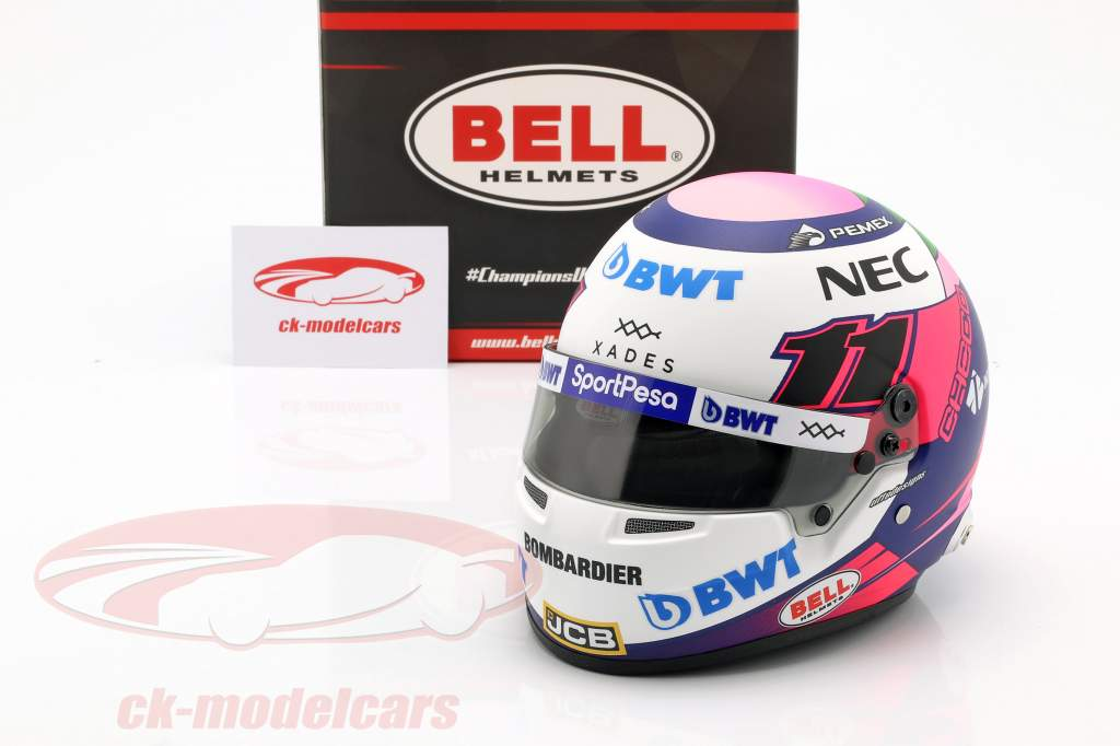 Sergio Perez Racing Point RP18 #11 formula 1 2019 casco 1:2 Bell