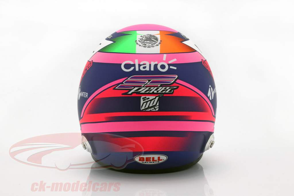 Sergio Perez Racing Point RP18 #11 formel 1 2019 hjelm 1:2 Bell