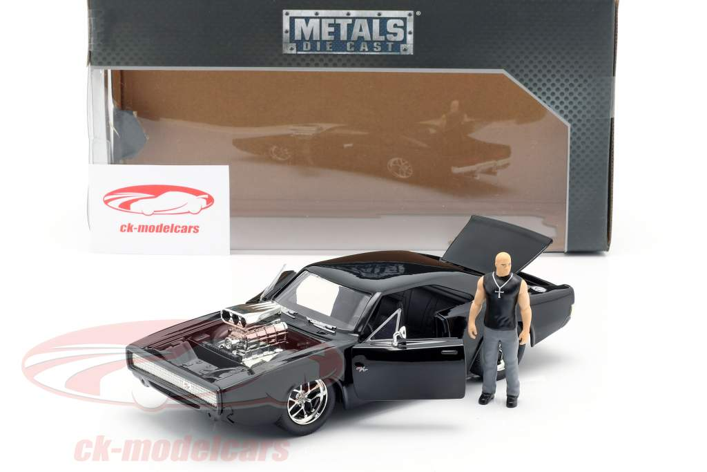 Dom's Dodge Charger R/T 1970 película Fast & Furious (2001) con figura 1:24 Jada Toys