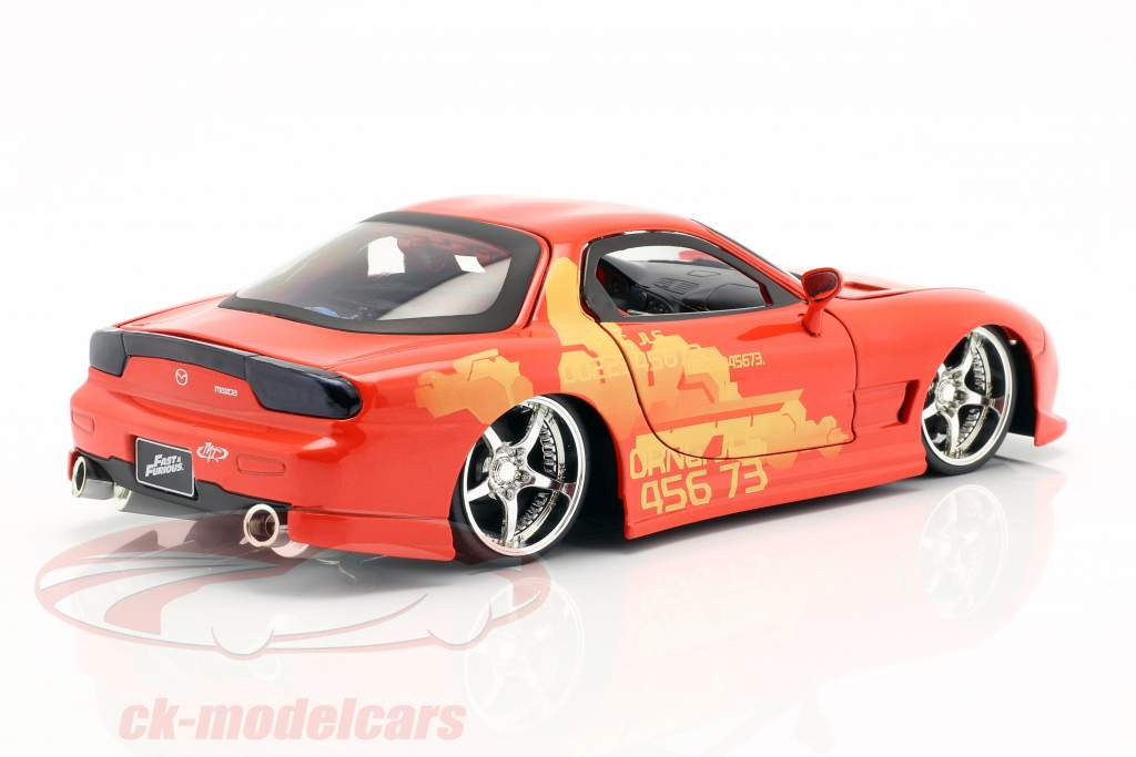 Orange Julius' Mazda RX-7 1995 película 2 Fast 2 Furious (2003) 1:24 Jada Toys