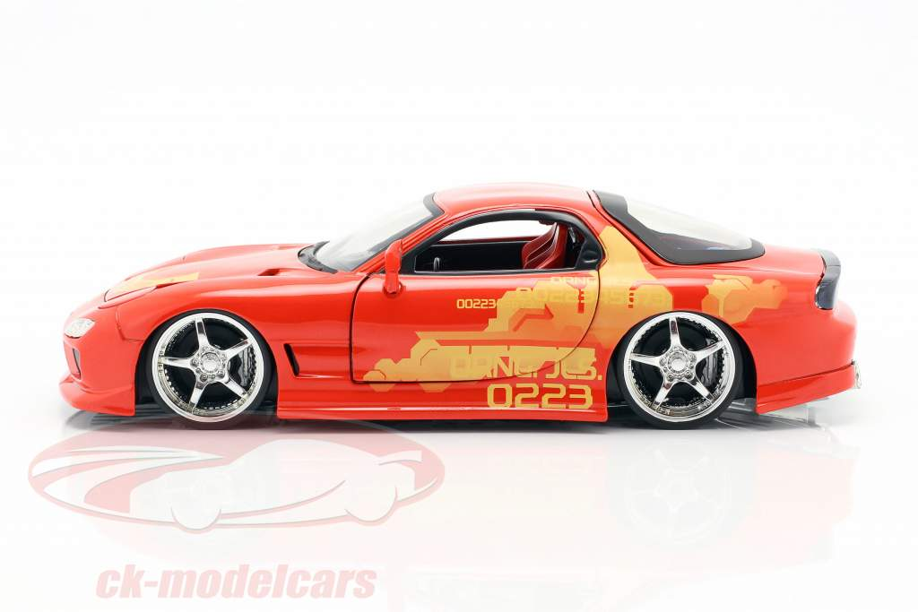 Orange Julius' Mazda RX-7 1995 フィルム 2 Fast 2 Furious (2003) 1:24 Jada Toys