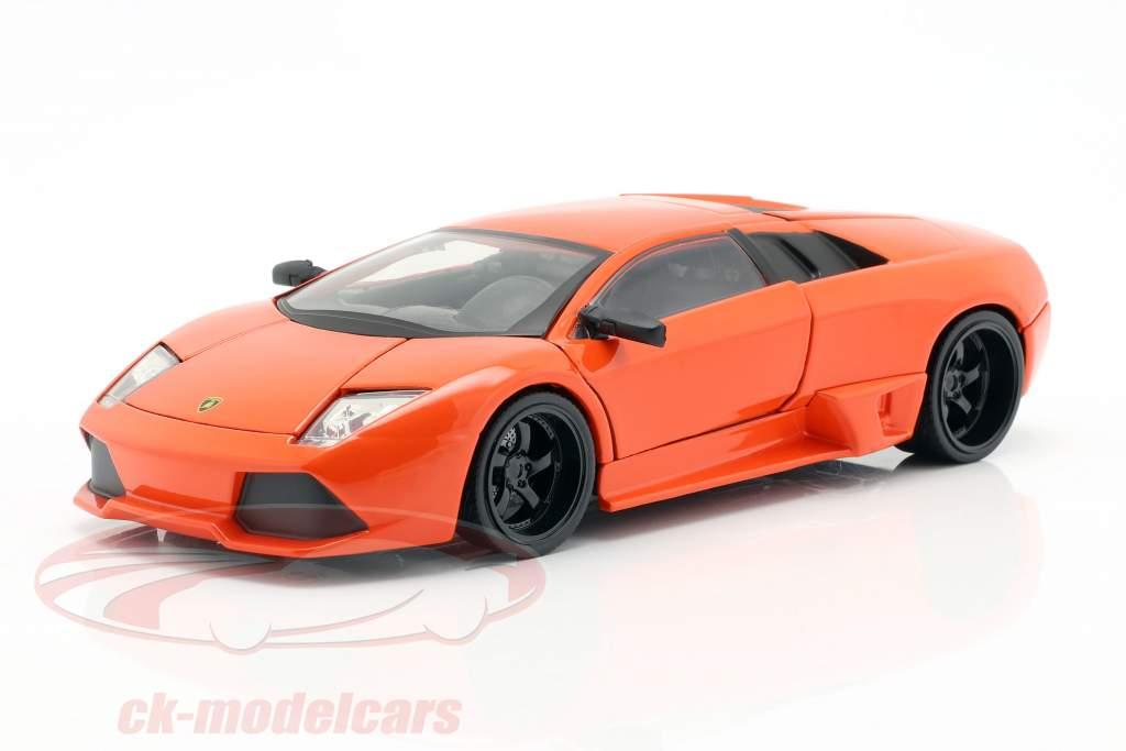 Roman's Lamborghini Murcielago película Fast & Furious 8 (2017) naranja 1:24 Jada Toys