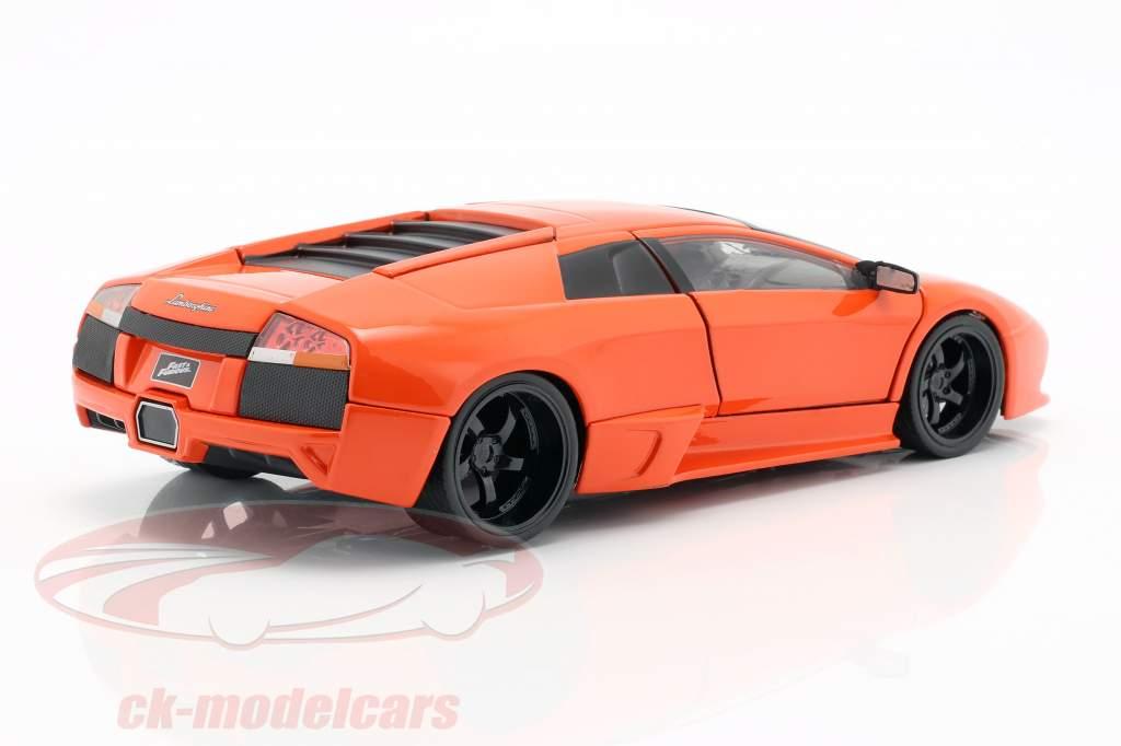 Roman's Lamborghini Murcielago フィルム Fast & Furious 8 (2017) オレンジ 1:24 Jada Toys