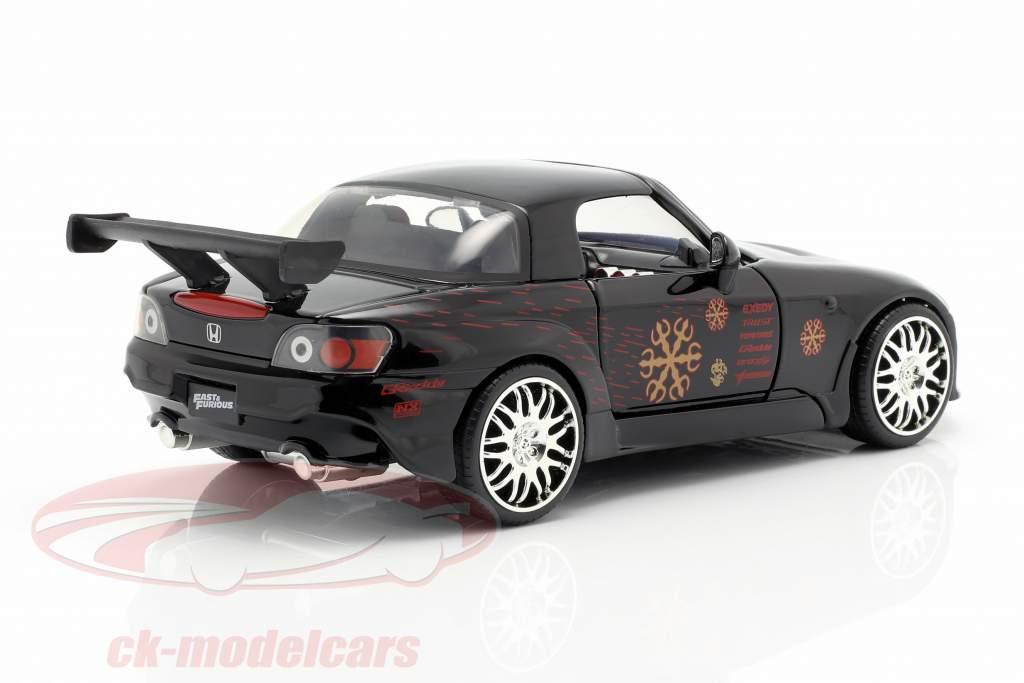 Johnny's Honda S2000 1995 filme Fast & Furious (2001) preto 1:24 Jada Toys