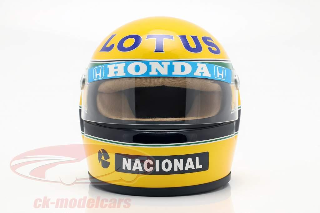 Ayrton Senna Lotus 99T #12 formula 1 1987 helmet 1:2