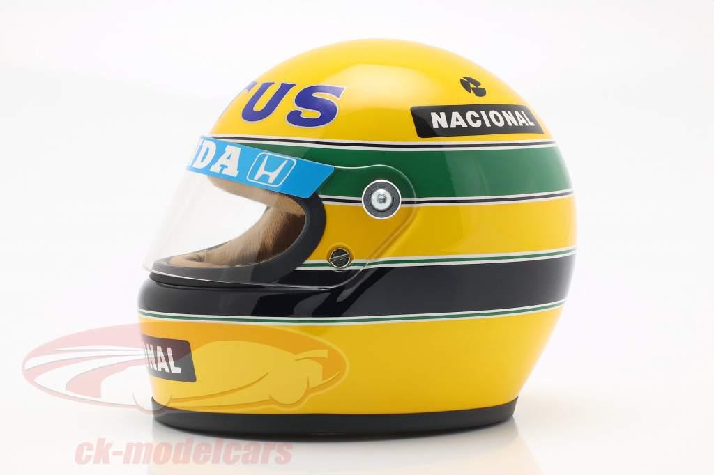Ayrton Senna Lotus 99T #12 formel 1 1987 hjelm 1:2