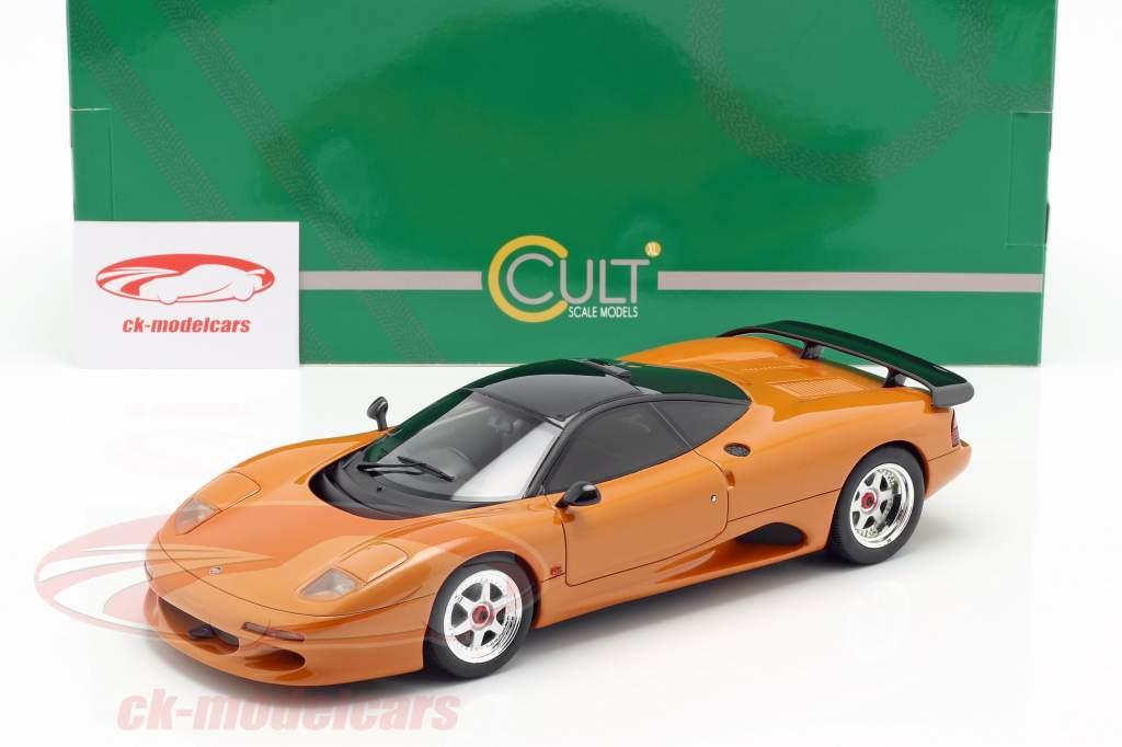 Jaguar XJR-15 anno di costruzione 1990 arancione metallico 1:18 Cult Scale