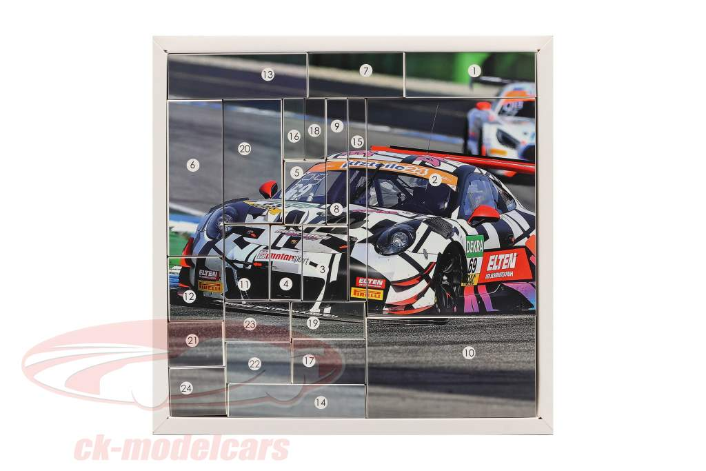Iron Force Calendário do Advento: Porsche 911 (991) GT3 R #69 Iron Force 1:43 CMR