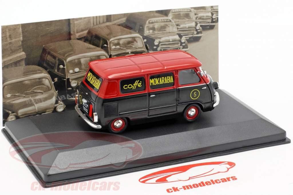 Fiat 600 furgone Mokarabia anno di costruzione 1958 rosso / nero 1:43 Altaya