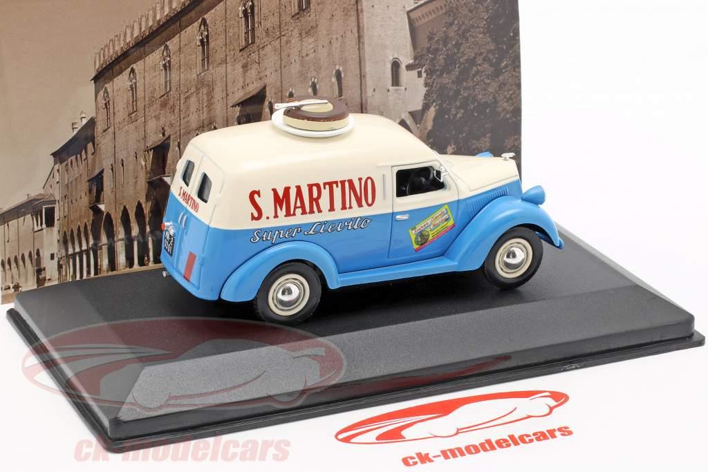 Lancia Ardea 800 busje S. Martino Bouwjaar 1949 crème wit / blauw  1:43 Altaya