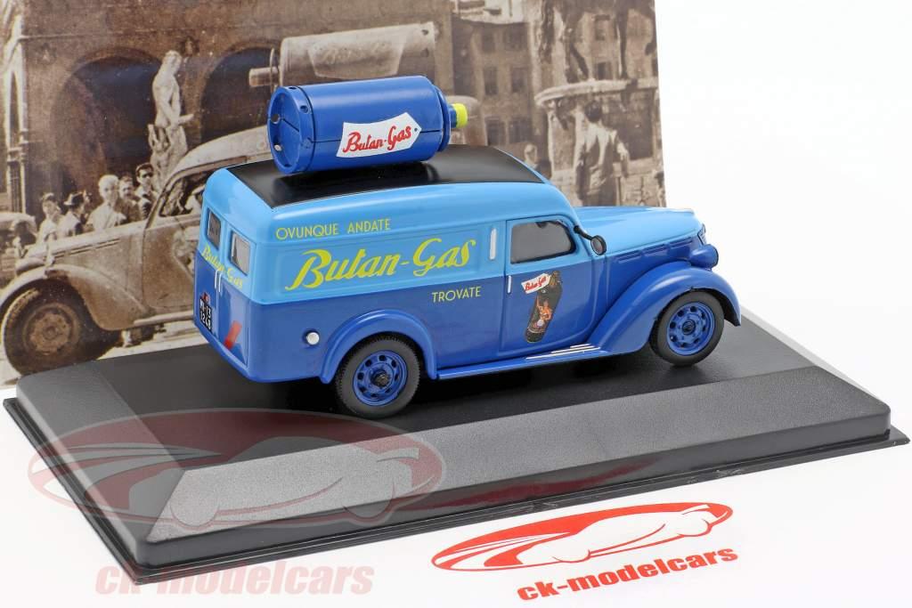 Fiat 1100 ELR furgoneta Butangas año de construcción 1948 azul 1:43 Altaya