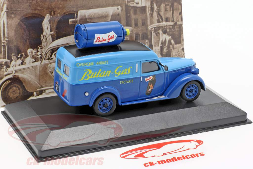 Fiat 1100 ELR van Butangas Opførselsår 1948 blå 1:43 Altaya