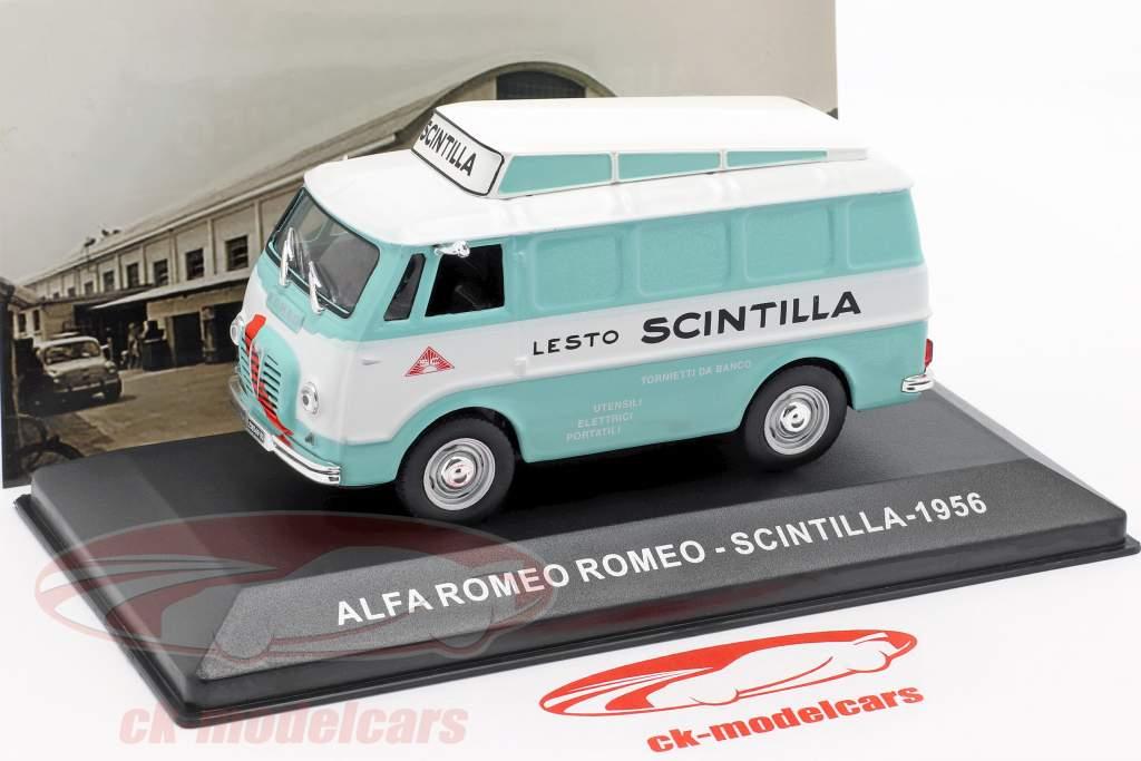 Alfa Romeo Romeo van Scintilla turquoise / blanc 1:43 Altaya