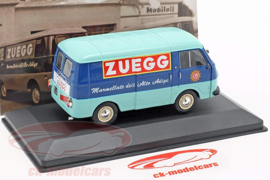Fiat 1100 T Transporter Zuegg Baujahr 1961 türkis / blau 1:43 Altaya