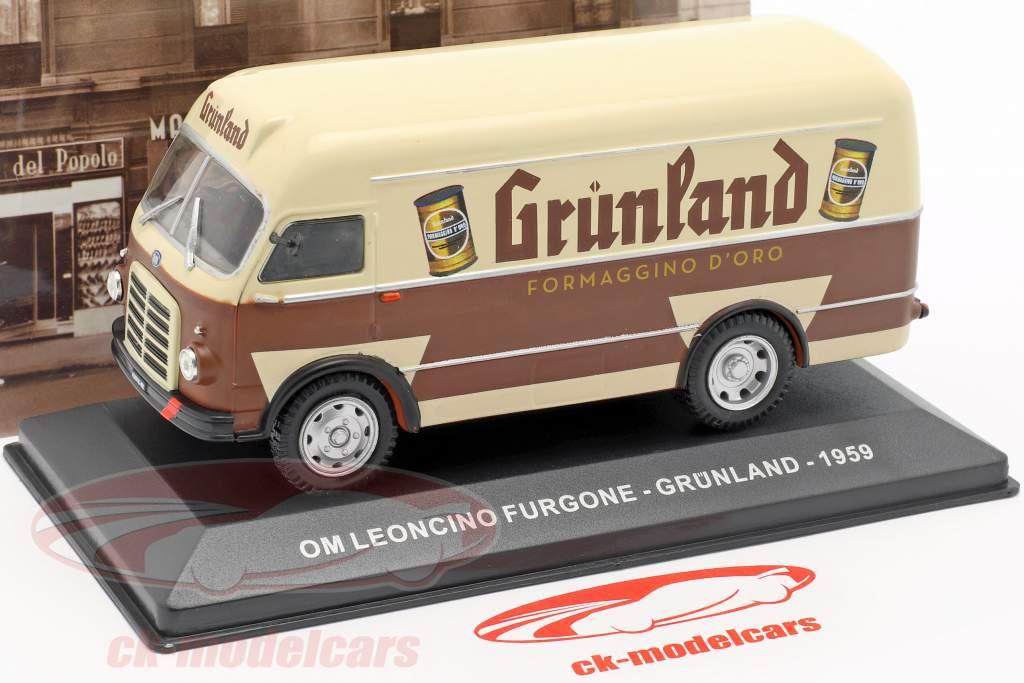 OM Leoncino Lieferwagen Grünland Baujahr 1959 braun / beige 1:43 Altaya