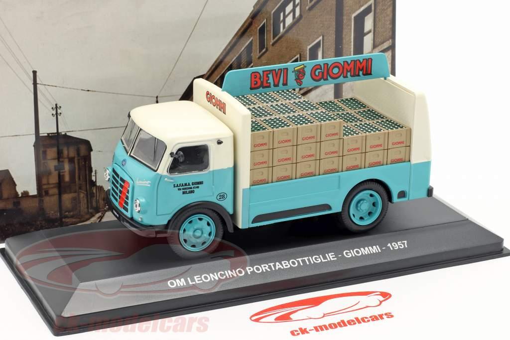 OM Leoncino busje Giommi Bouwjaar 1957 turkoois / grijs 1:43 Altaya