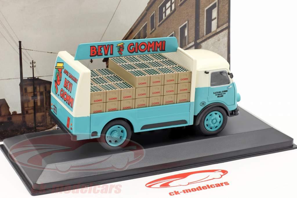 OM Leoncino Lieferwagen Giommi Baujahr 1957 türkis / grau 1:43 Altaya