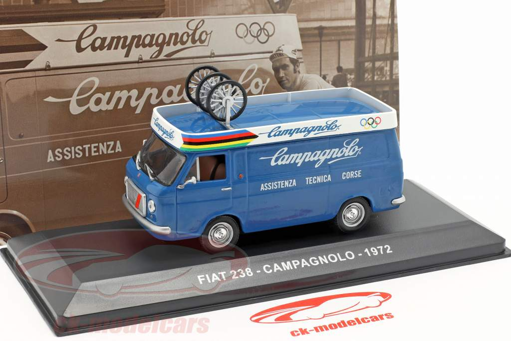 Fiat 238 van Campagnolo ano de construção 1972 azul 1:43 Altaya
