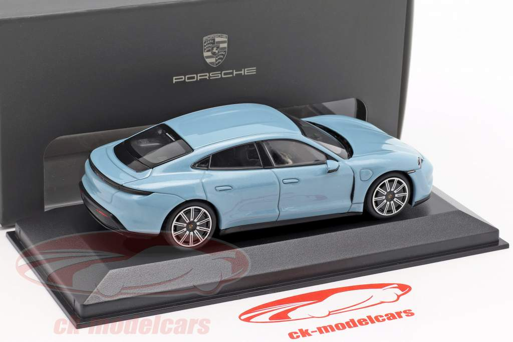 Porsche Taycan 4S año de construcción 2019 congelado azul metálico 1:43 minichamps