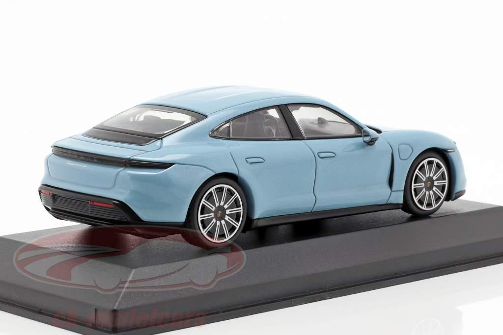 Porsche Taycan 4S Bouwjaar 2019 bevroren blauw metalen 1:43 minichamps