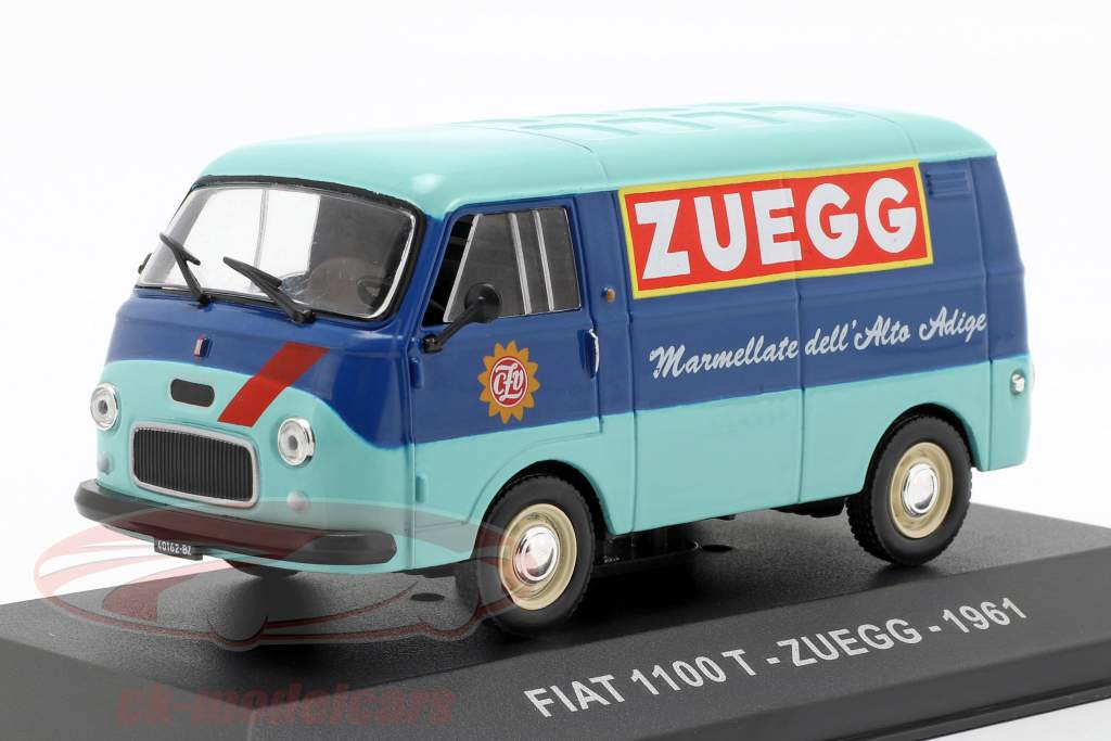 Fiat 1100 T van Zuegg Opførselsår 1961 turkis / blå 1:43 Altaya